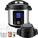 Pressure Cooker Air Fryer Combo, 17-In-1 Instapot with Nesting Broil Rack, Foodie Grill and Air Fryer , Food Steamer 6 Quart,
