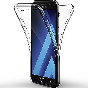"""alsatek – Carcasa Delantera y Trasera para Samsung Galaxy A5 2017 - De Gel - Protección Completa - Transparente - Antiarañazos - 2017-5,2"""""""
