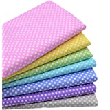 """iNee Polka Dot Fat Quarters Quilting Fabric Bundles, Sewing Fabric for Quilting Crafting,18""""x22"""""""
