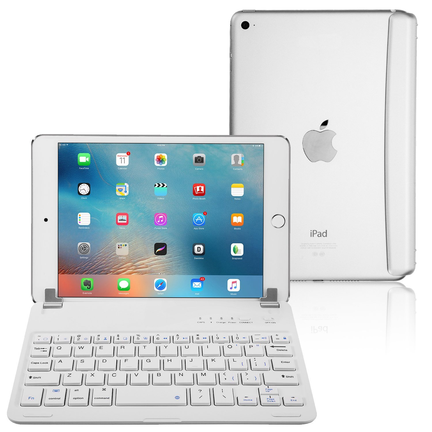 iPad Mini 3/2 / 1 Keyboard, Raydem Ultra-Thin iPad Mini Wireless Bluetooth Keyboard Folio Cover 130 Degree Multi-Angle Swivel Rotating with Auto Wake/Sleep for Apple iPad Mini 1/2 / 3