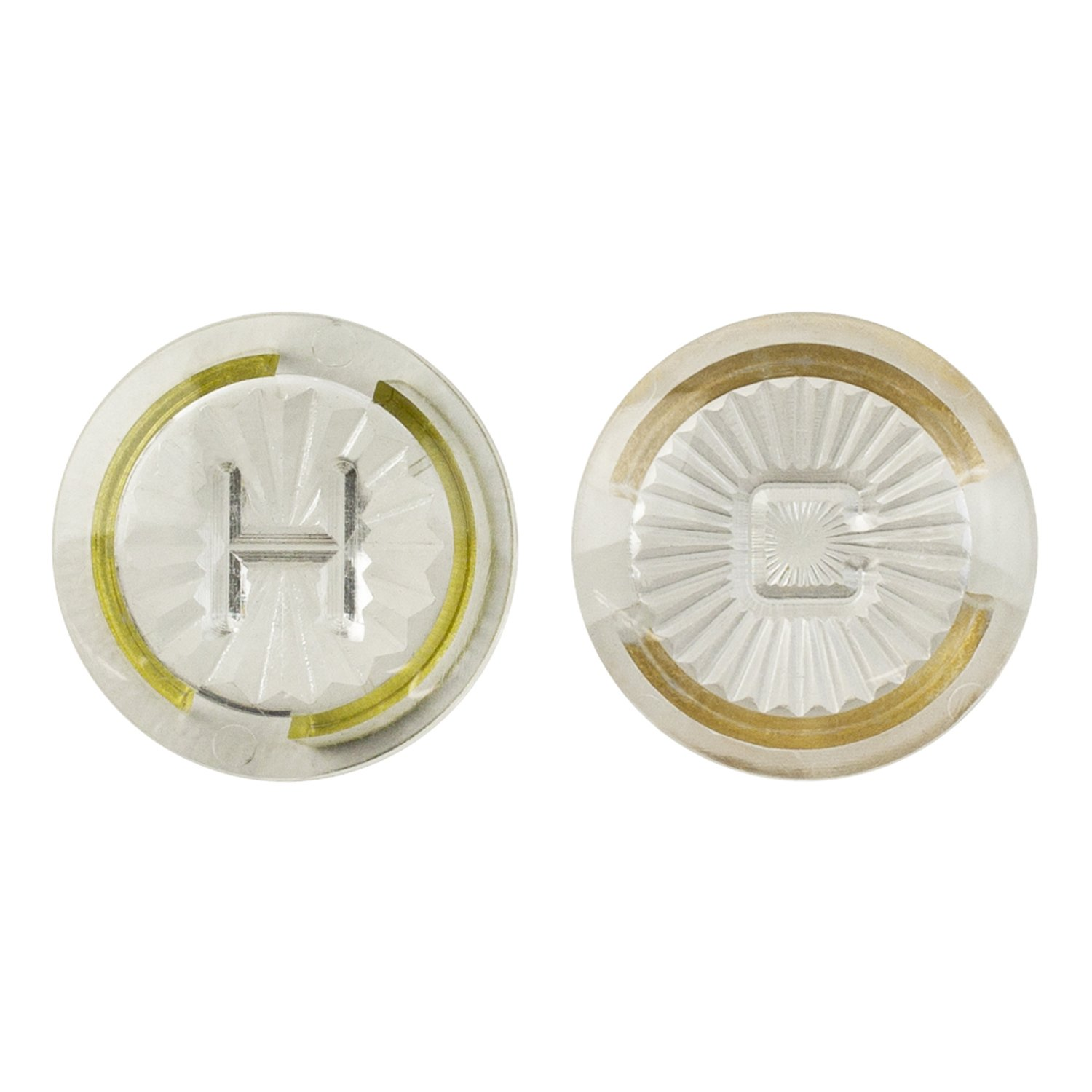 LASCO 0-6105 Hot/Cold Faucet Handle Index Buttons for American Standard Cadet Series OEM 68498-02 Model, Acrylic