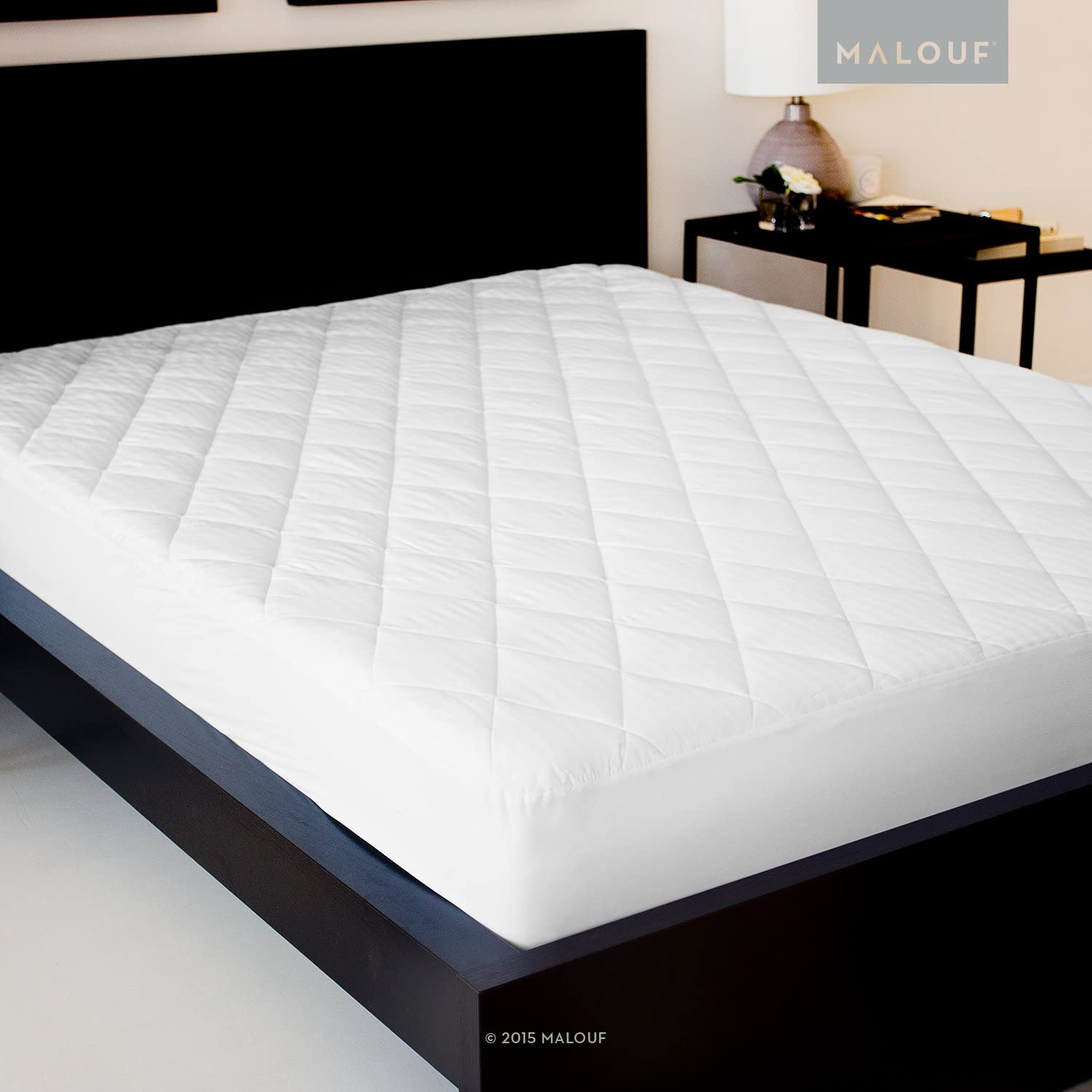 SLEEP TITE Quilted Mattress Pad with Soft Down Alternative Fill - Hypoallergenic - Twin XL