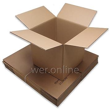 10 cajas de mudanza fuertes, embalajes de almacenamiento. cajas de cartón de pared doble de 610 mm x 457 mm x 457 mm: Amazon.es: Oficina y papelería