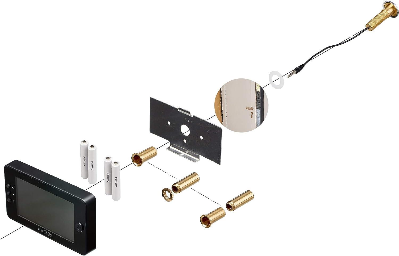 facile /à utiliser s/écurit/é prsTECH/® DoorCAM DC1 PLUS Judas Num/érique Grand /écran 4,3/'/' Espion Porte Cam/éra Grand Angle 120/° pour /épaisseurs de porte de 38mm-110mm