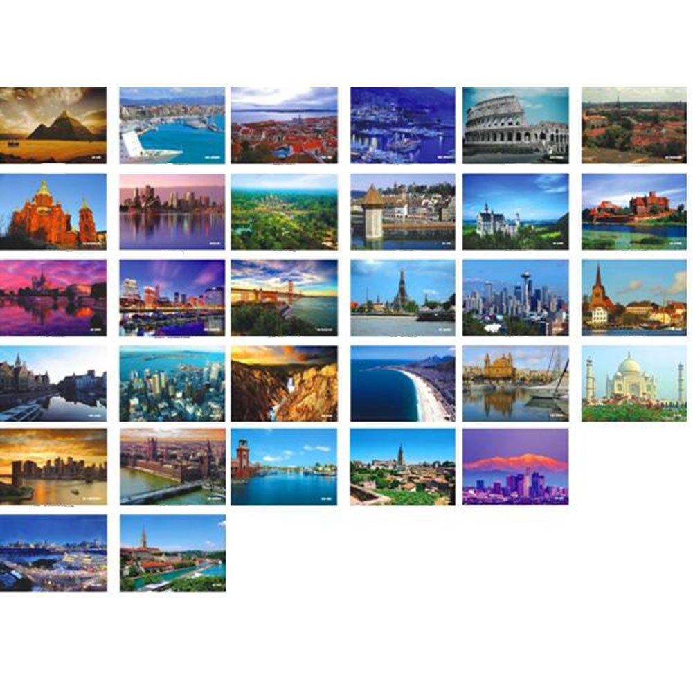 Beautiful Travel Scenery 33 PCS Artistic Retro Postcards-World A1 George Jimmy GJ-OFF1069672-ALICE02063