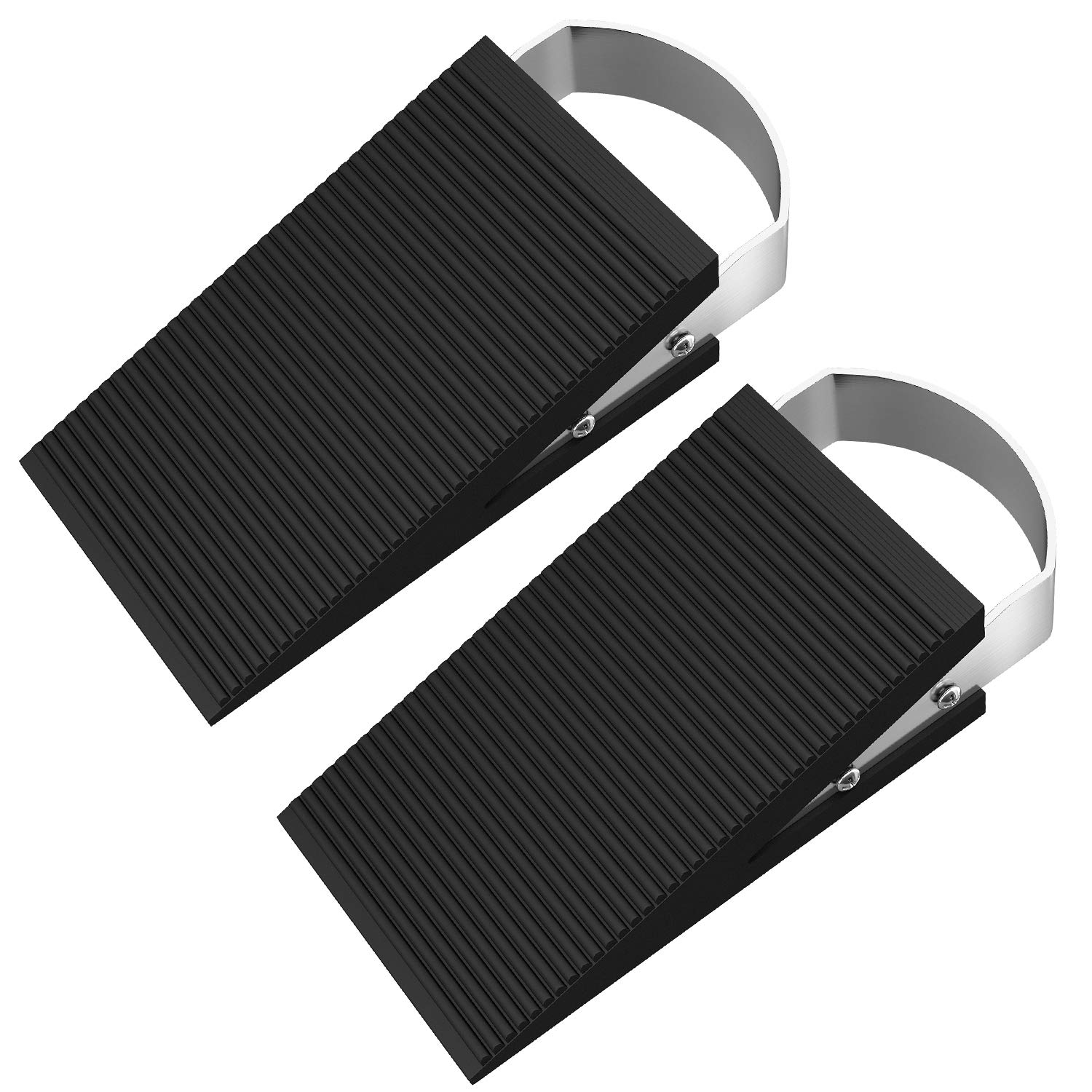 2 Pack Premium Door Stopper- Heavy Duty Wedge Rubber Stopper, Anti-Slip Non-Scratching for Home Office School Fullsexy