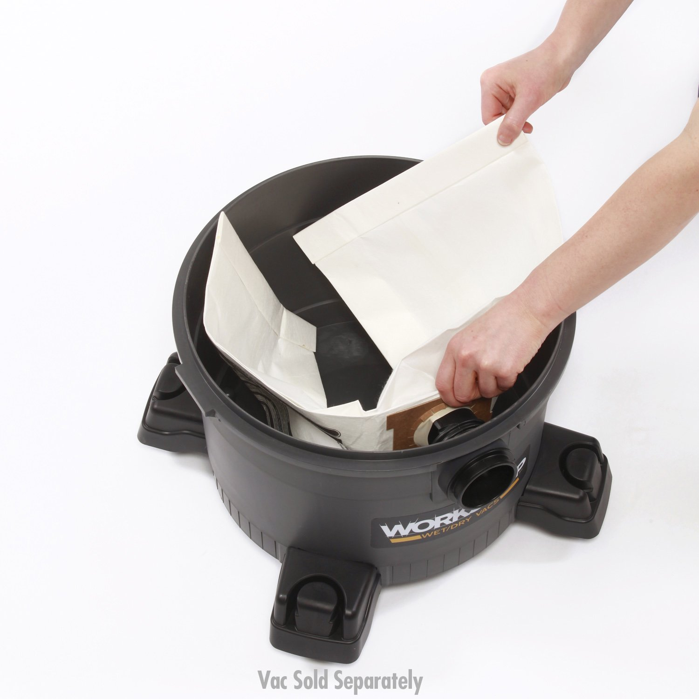 WORKSHOP Wet Dry Vacuum Bags WS32090F Fine Dust Collection Shop Vacuum Bags (2 Shop Vacuum Bags), Bag Filter For WORKSHOP 5-Gallon To 9-Gallon Shop Vacuum Cleaners by WORKSHOP Wet/Dry Vacs (Image #2)