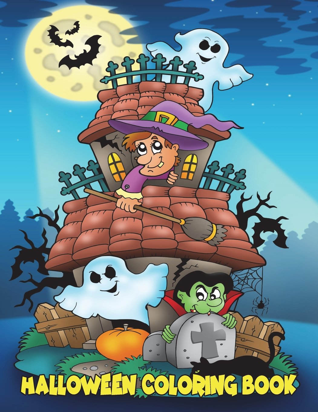 Halloween Coloring Book: For Kids Ages 4-8, 8-12: Panista Publishing ...