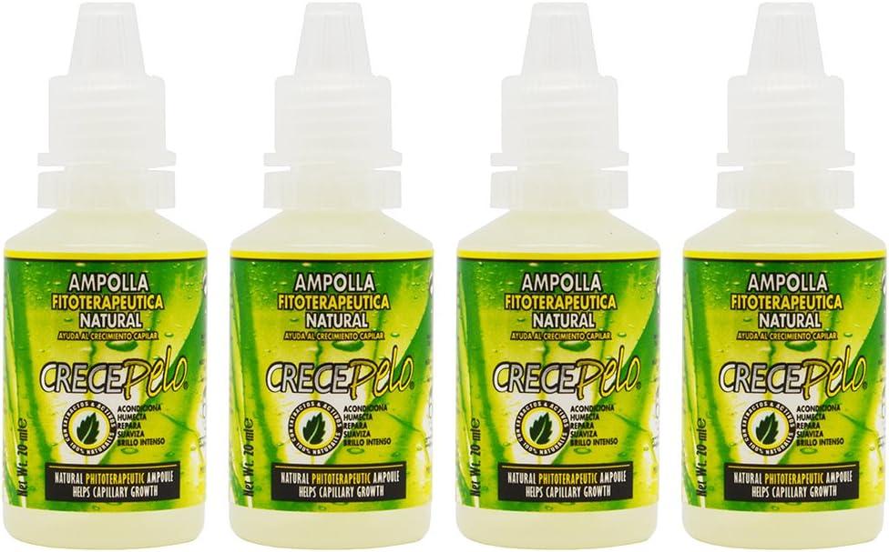 BOE Crece Pelo Ampolla (ampoulle) 20ml Set of 4 by BOE: Amazon.es ...