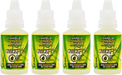 BOE Crece Pelo Ampolla (ampoulle) 20ml Set of 4 by BOE: Amazon.es ...