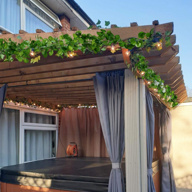 YQing Plantas Hiedra Artificial Decoración Interior y Exterior ...