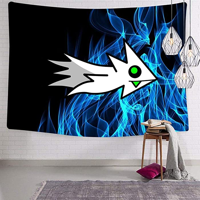 GTDQAX Tapestry Geometry Ship Dash Wall Tapestry Hanging Blanket Wall Art Decor for Living Room Bedroom Mens Boys Womens Home
