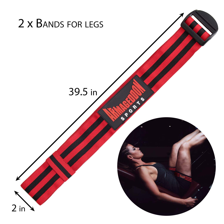 Resistance Training Bands for Blood Flow Restriction of Arms and Legs 4 Pack correas de entrenamiento de oclusi/ón Bandas de entrenamiento de restricci/ón de flujo sangu/íneo para brazos y piernas