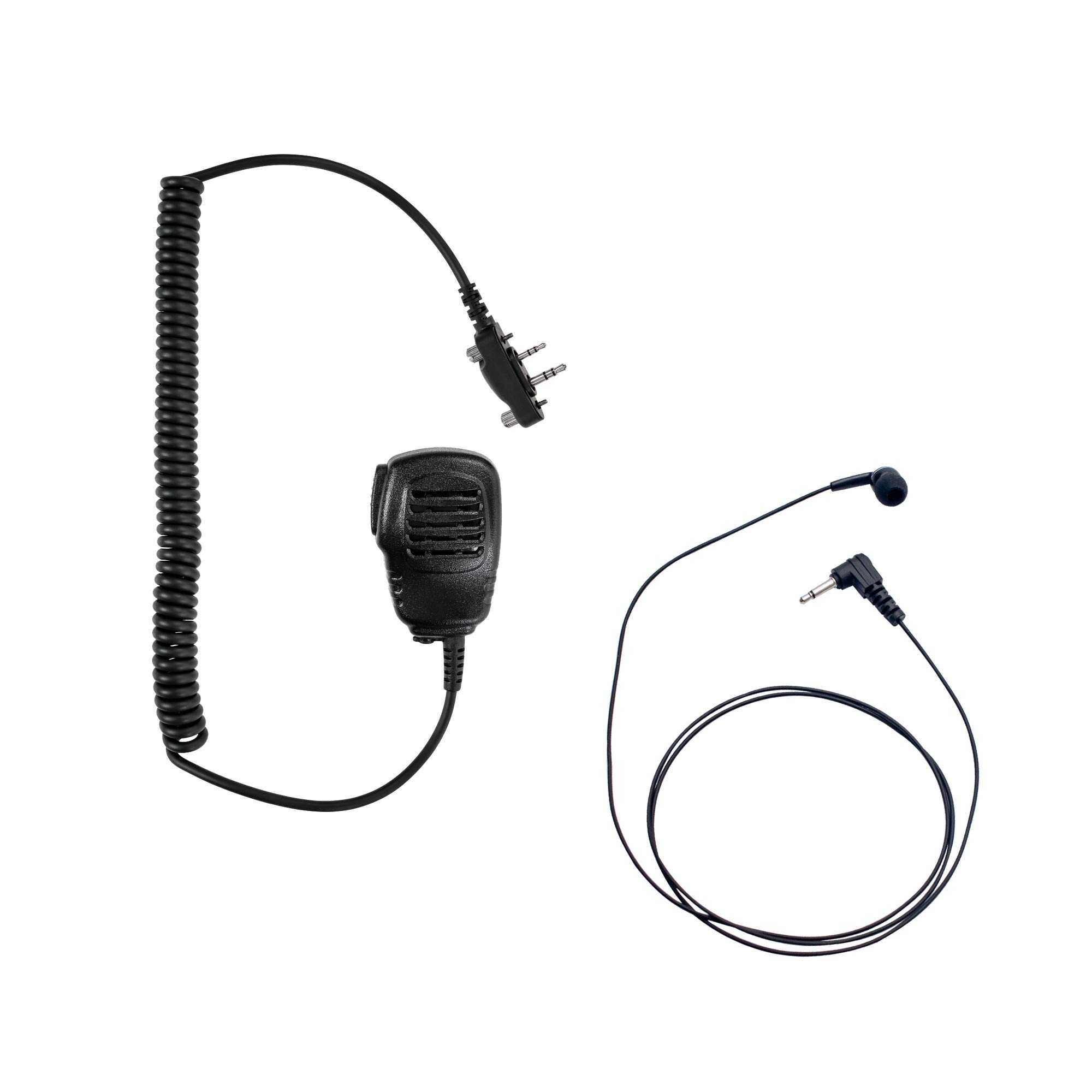 Maxtop APM100ARP19-I2 Light Duty Shoulder Speaker Microphone + Coil Extend Listen Only Earpiece for ICOM