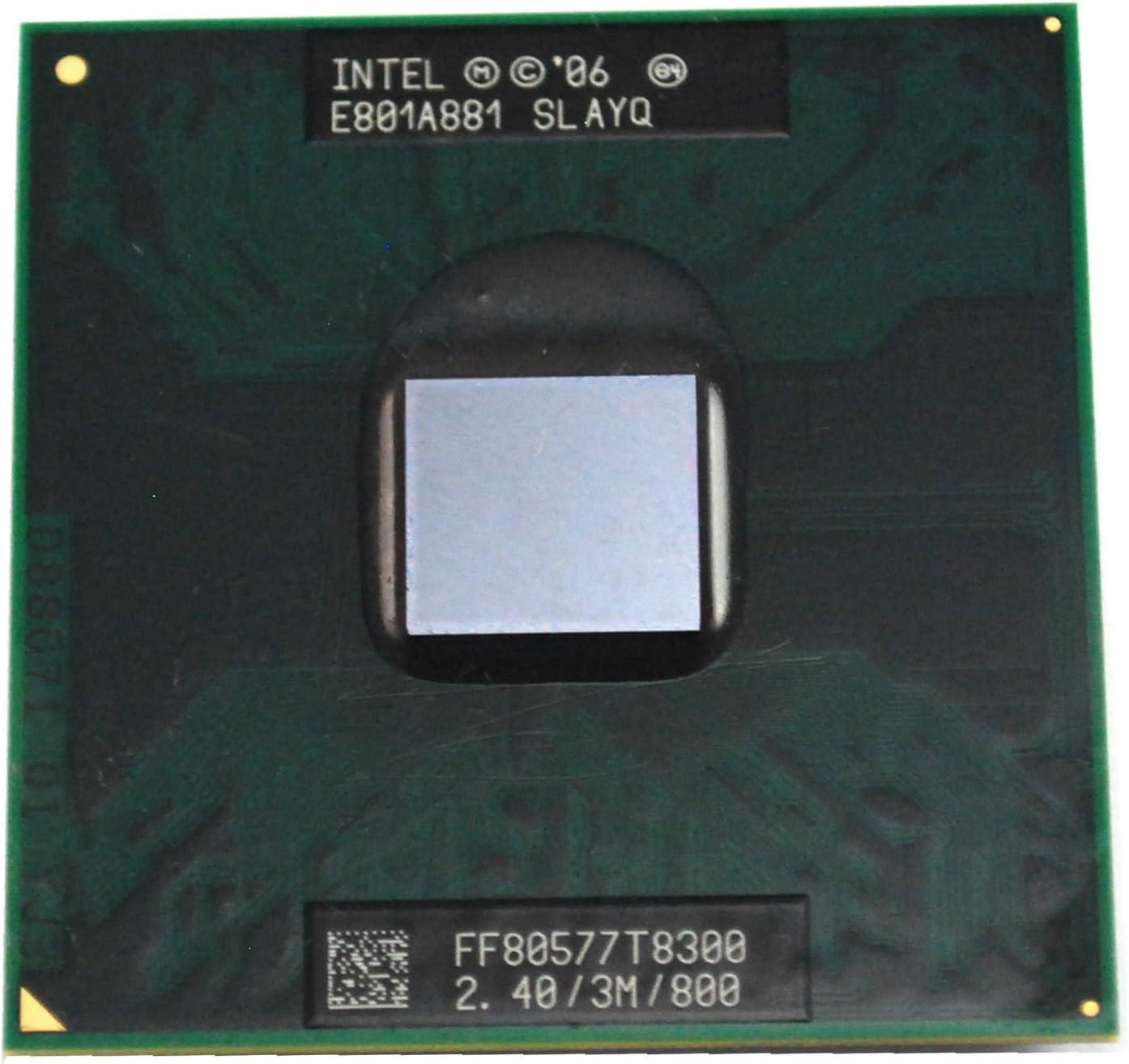 Intel Core2 DUO T8300 SLAPA SLAYQ Mobile CPU Processor Socket P 2.4GHz 3MB 800MHz