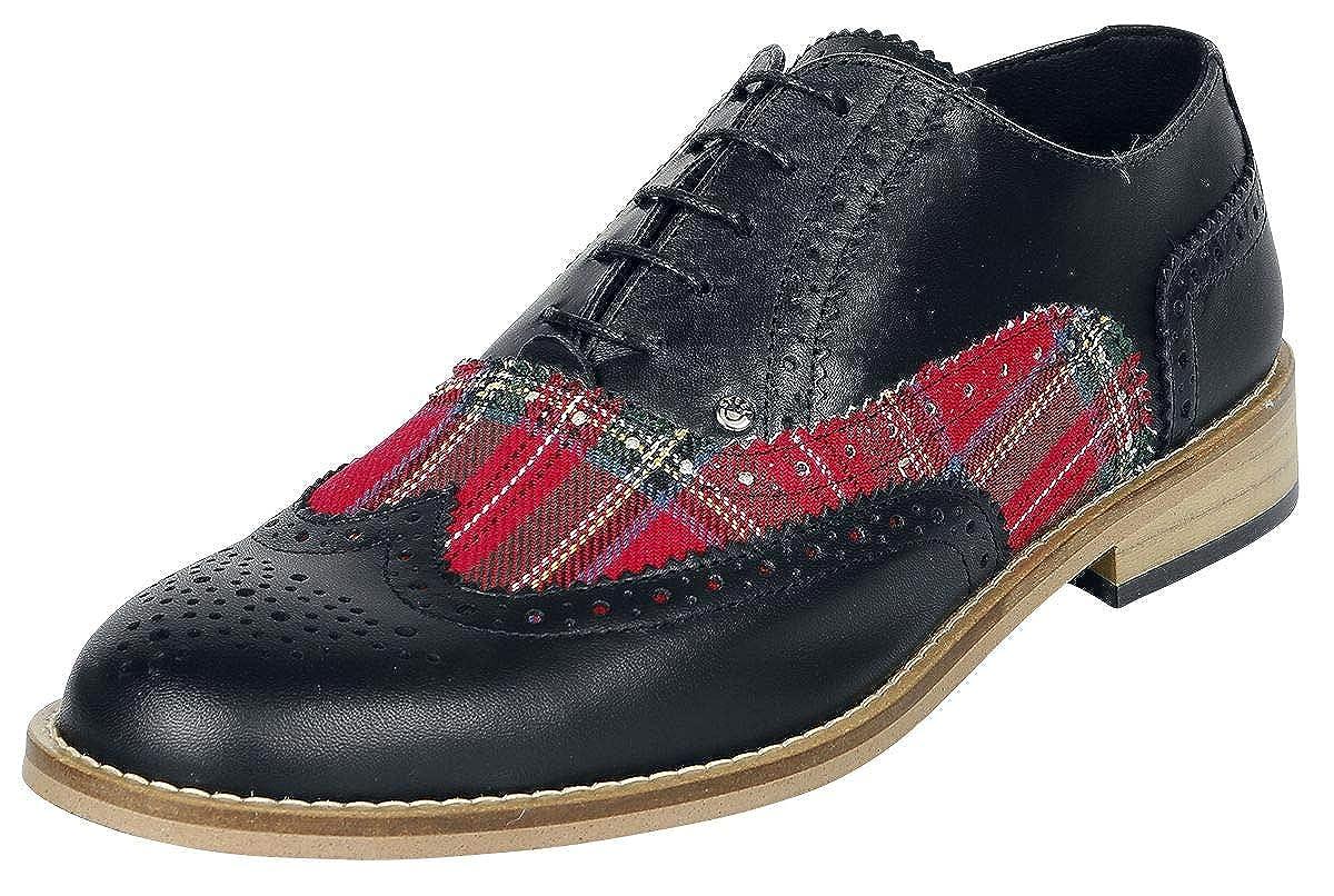 svart Steelground skor Tartan brogue Lace -up skor svart svart svart  upp till 60% rabatt