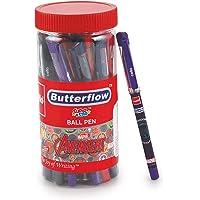 Cello Butterflow Avenger Ballpen -25pcs Jar (Blue)