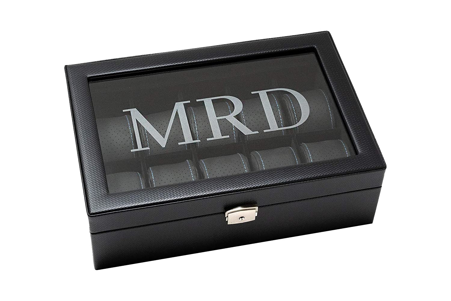 Amazon Com Custom Watch Box Black Personalized Watch Case For Men