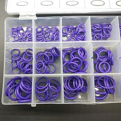 18 Gr/ö/ßen KFZ Klimaanlage Gummi O-Ring Reparatur Klimaanlage Werkzeuge Dichtungen Sortiment Kit Druckfestigkeit korrosionsbest/ändig Tomasa Werkzeug 18 Netzscheibe