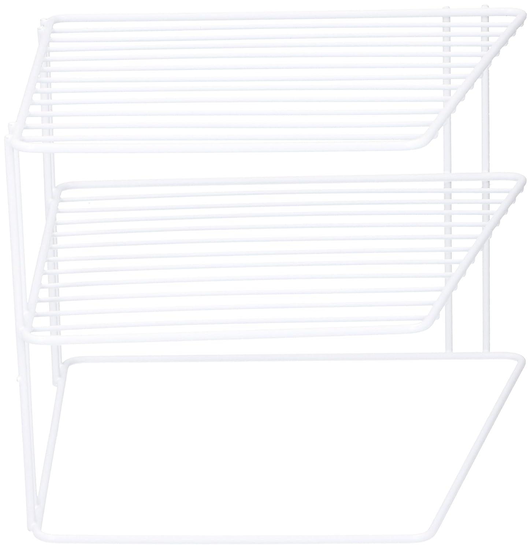 Laminated Wire 2 Tier Corner Plate Shelf Stand Rack Kitchen Cupboard Storage Lifetime Kitchen