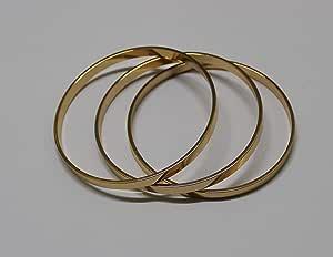 Chinese Gold Plain 65mm Set of 3 Goisha