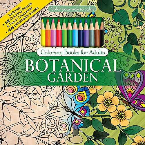 Botanical Garden Adult Coloring Book Set