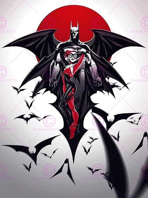 The Joker /& Harley Quinn Giant Section Wall Art Poster 260gsm