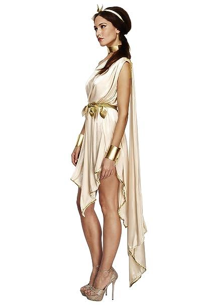 Smiffys Disfraz Fever de diosa, transparente, con vestido, cinturón, muñequeras, gargantilla y complemento para el pelo