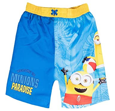 8a42f37ab8 MINIONS Boys' Swimming Shorts blue blue - blue - 12 Years: Amazon.co ...