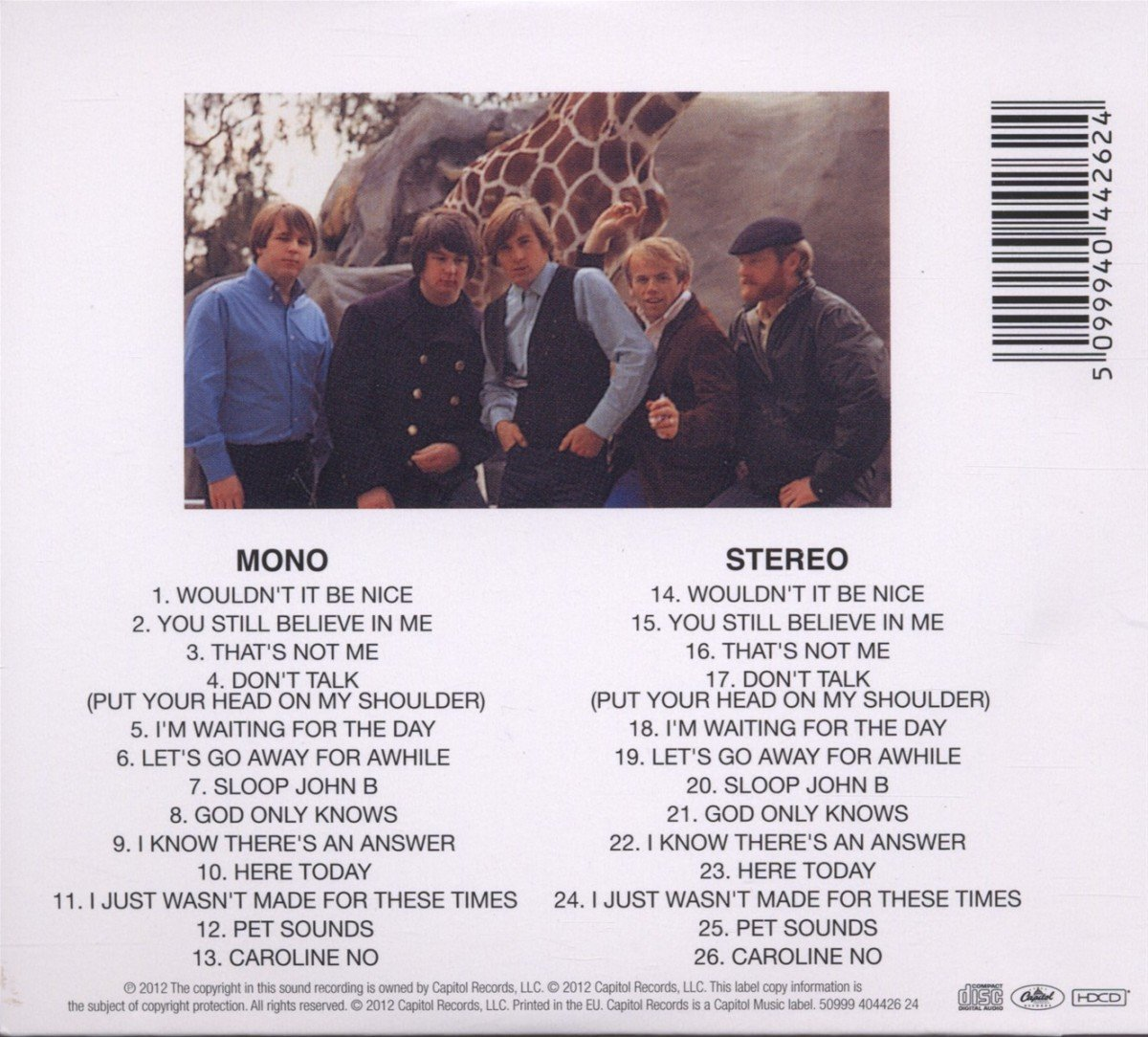 Pet Sounds (Mono & Stereo Remasters) by CD