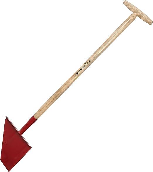 Fiskars Classic Perfilador de jardín, Longitud: 104 cm, Ancho: 23, 5 cm, Acero/Mango de madera, Rojo, 1003707: Amazon.es: Jardín