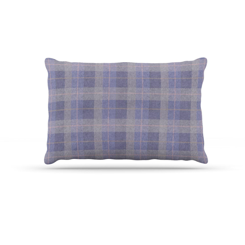 KESS InHouse Afe Images Summer Plaid Pattern Coral Pattern Dog Bed, 50  x 40