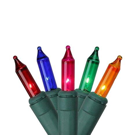 Mini Christmas Lights.Set Of 100 Multi Color Synchronized Musical Mini Christmas Lights Green Wire