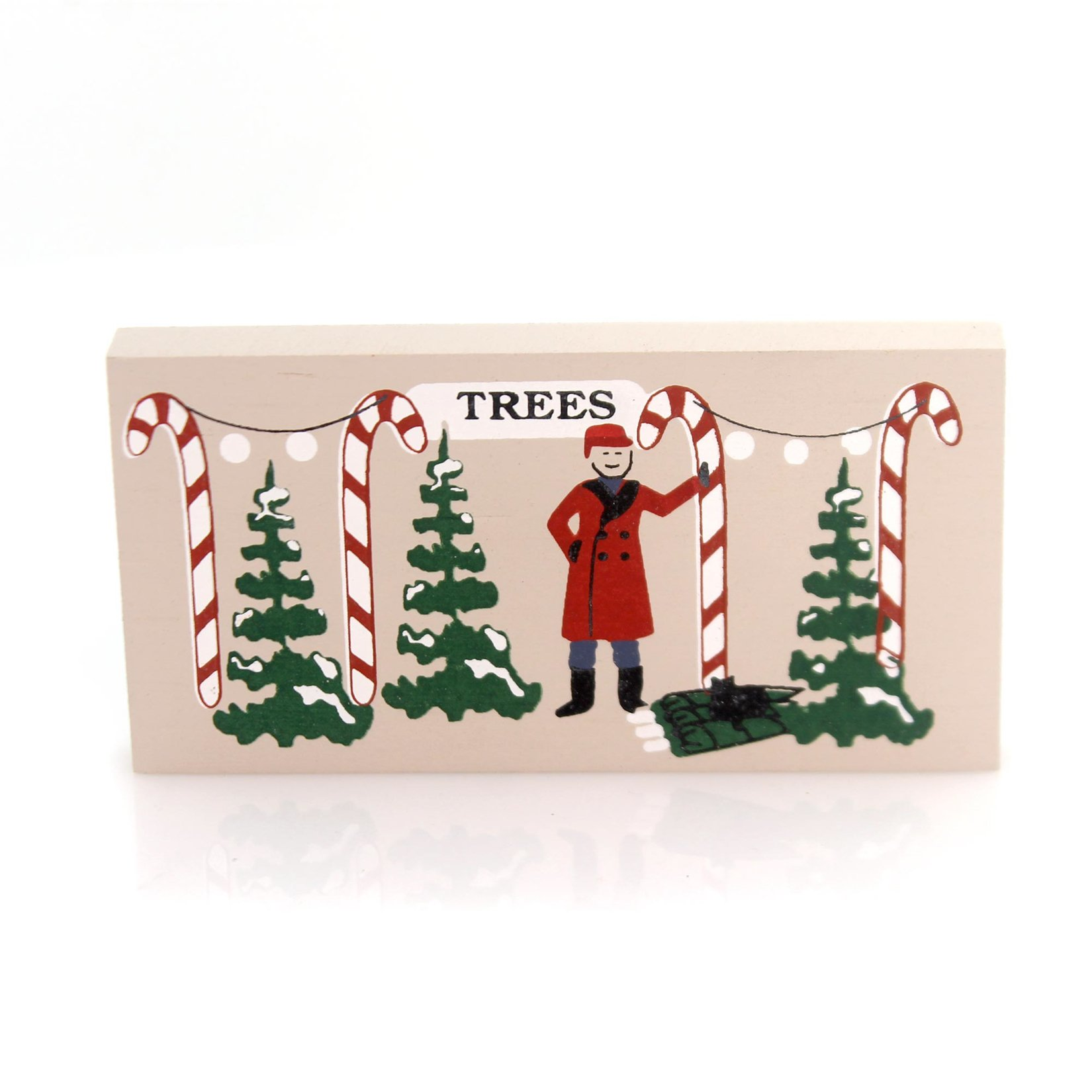CATS MEOW VILLAGE Christmas Tree LOT Wood Accessory Retired Christmas 172 cm