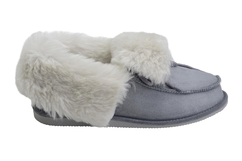 Vogar Hommes Femmes Luxe W76 Peau de Mouton Pantoufles Chaussures Peau 8767 Chaussons avec Doublure Chaud Laine W76 Gris/ Blanc d18ab72 - reprogrammed.space