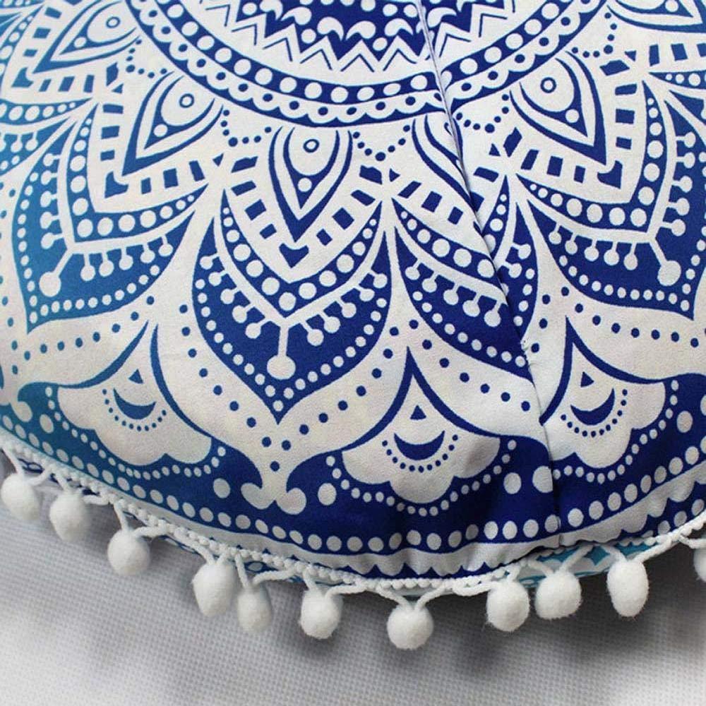 VJGOAL Mandala India Redonda Bohemio Funda de Almohada decoración del hogar Funda de cojín Suave(40_x_40_cm,Multicolor7)