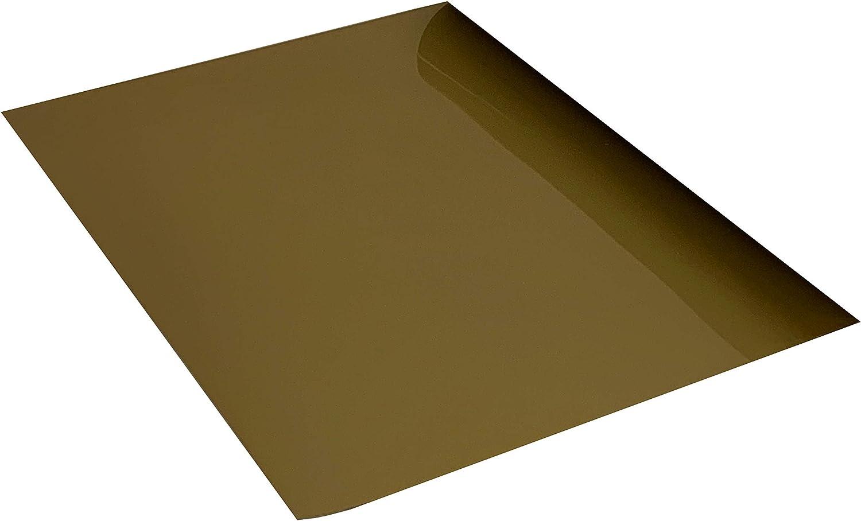 Lot de 5 feuilles thermocollantes en vinyle HTV Flex 25 cm x 20 cm beige