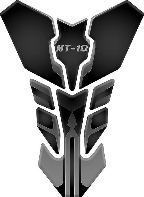 Tankpad Motorad Draht Muster Tankschutz Polymer Kompatibel Yamaha Mt 10 Black Grey Auto