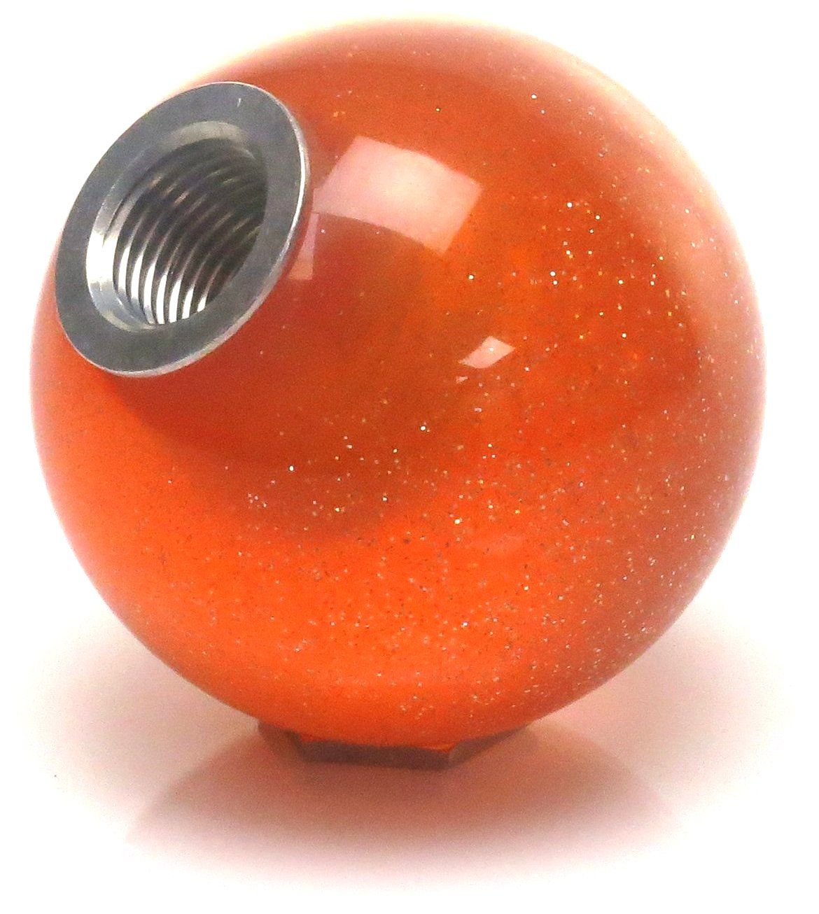 American Shifter 327594 Pink Built Not Bought Simple Orange Metal Flake Shift Knob with M16 x 1.5 Insert