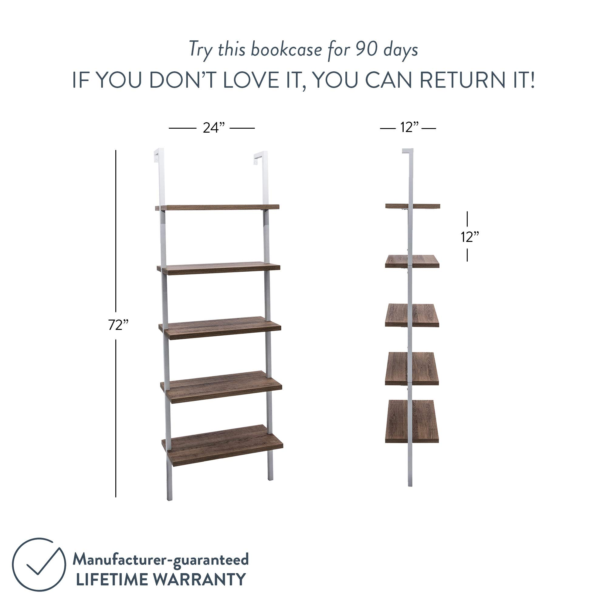 Nathan James 65502 Theo Wood Ladder Bookshelf, Bookcase, Natural Brown/White by Nathan James (Image #8)