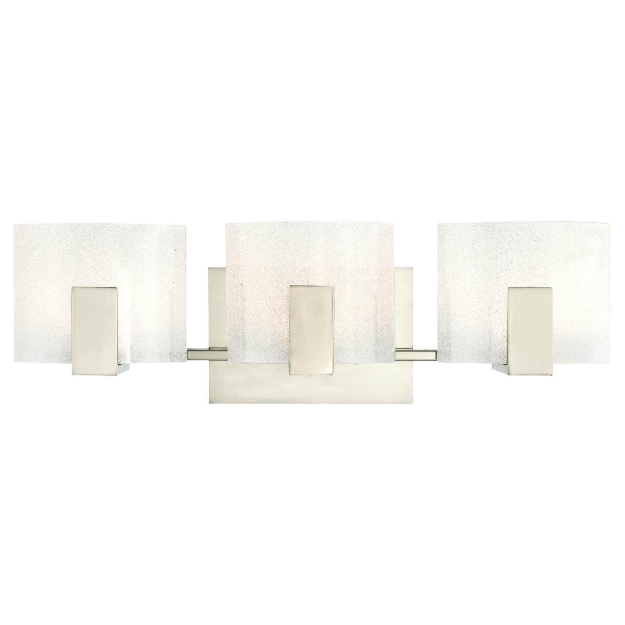 Westinghouse 6330000 Zaya Three-Light LED Indoor Wall Fixture, Brushed Nickel Finish with Sparkle Glass