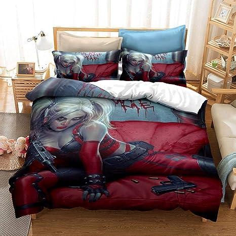 Harley Quinn Micro Fiber Full//Queen Comforter and 2 Pillowcases