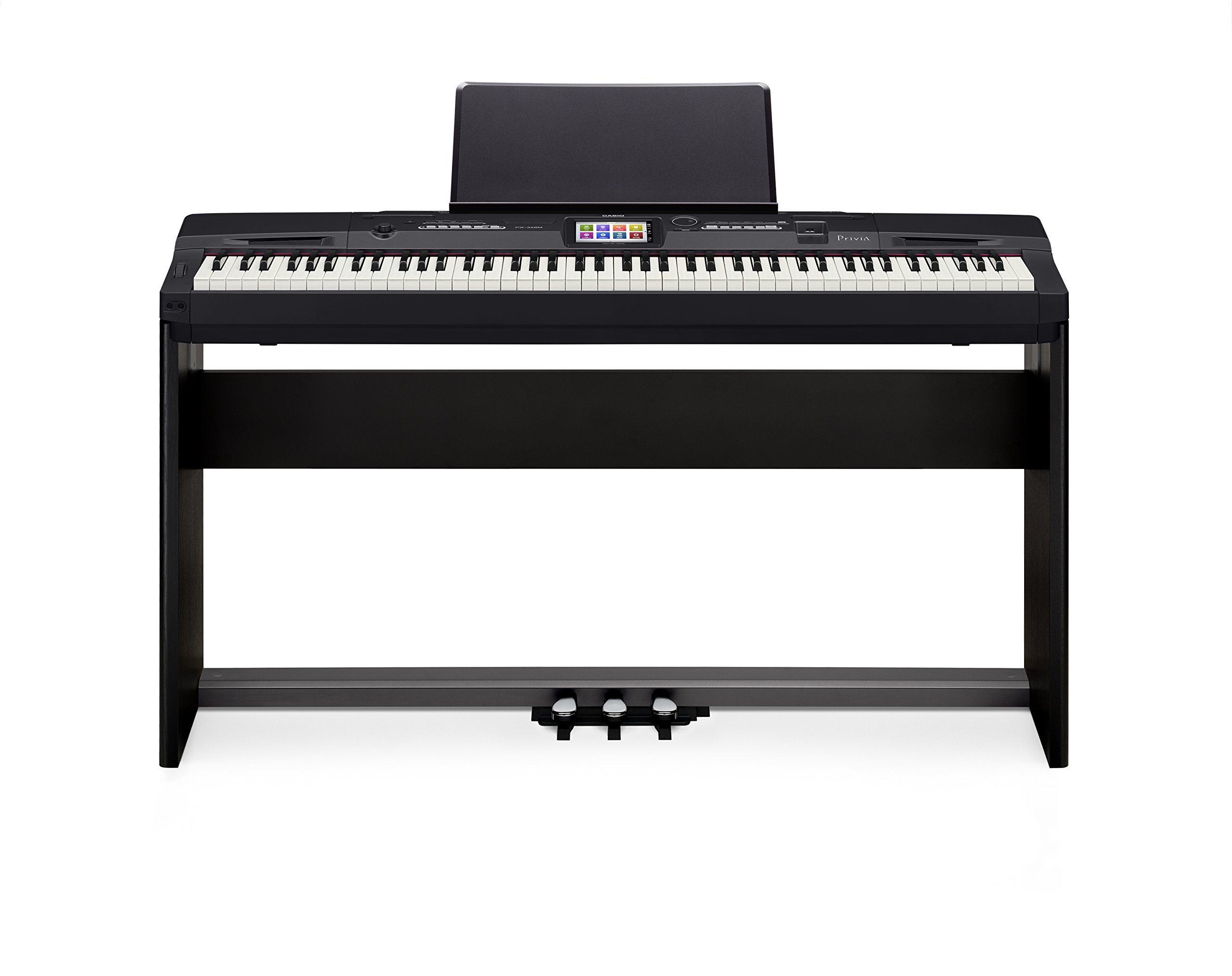 Casio Privia PX-360 Digital Piano - Black Bundle with CS-67 Stand, SP-33 Pedal, Furniture Bench, Instructional Book, Austin Bazaar Instructional DVD, and Polishing Cloth by Casio (Image #8)