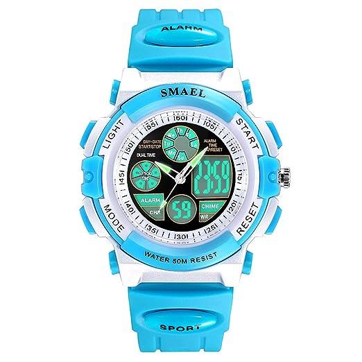 Beydodo Relojes Electronicos Reloj Deportivo Relojes Niños Relojes Niño y Niña Reloj Impermeable Reloj Hombre Luminoso Reloj de Estudiante Azul: Amazon.es: ...