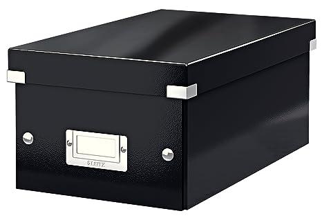Leitz boîte de rangement pour dvd noir click store