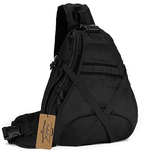 33bdc9420 ArcEnCiel Tactical Sling Bag Pack Military Rover Shoulder Sling Backpack  Molle Assault Range Bag Everyday Carry