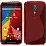 PhoneNatic Custodia Motorola Moto G 2014 2. Generation Cover rosso S-Style Moto G 2014 2. Generation in silicone + pellicola protettiva