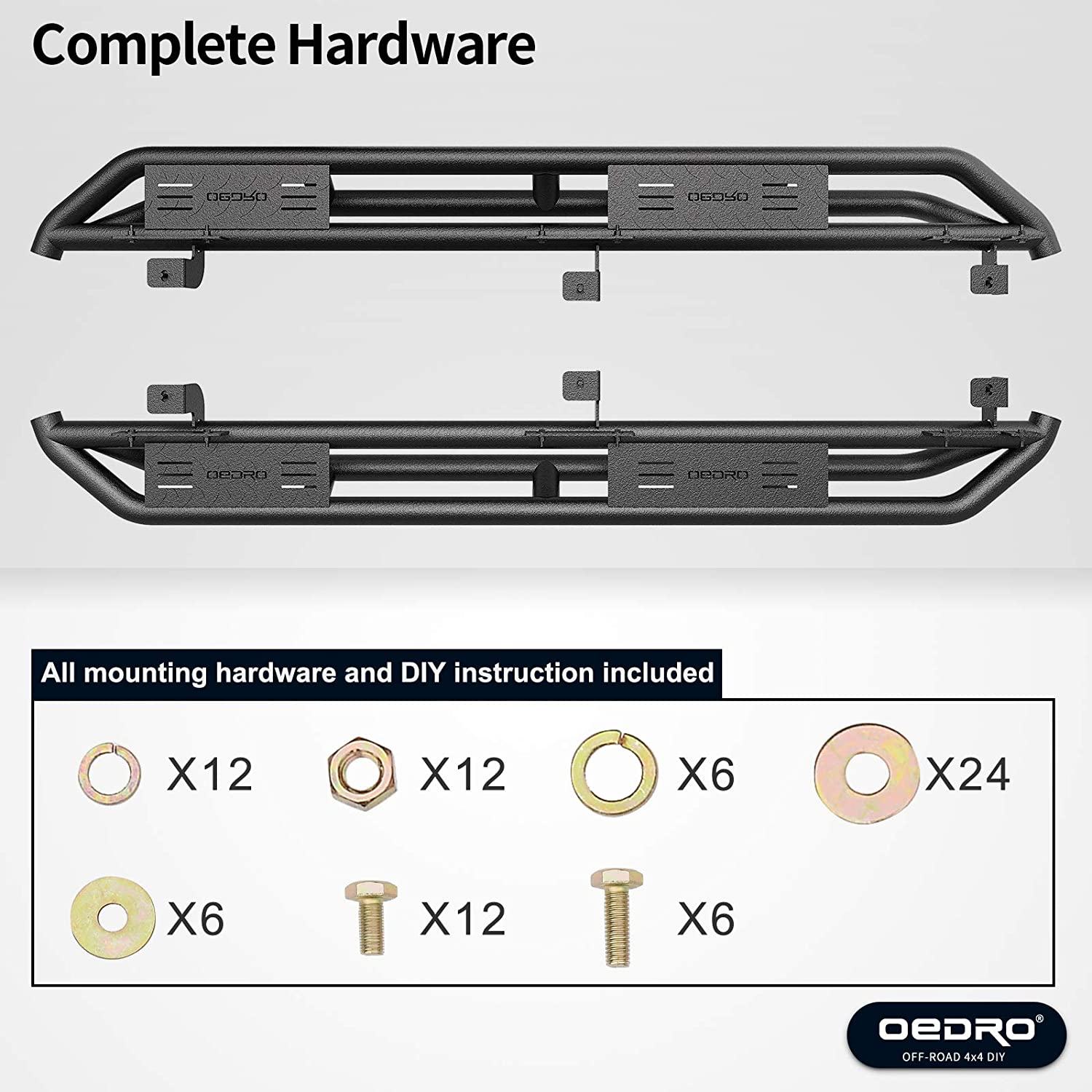 OEDRO Running Boards Compatible with 2018-2020 Jeep Wrangler JL /& Unlimited 4 Door 6 inch Truck Side Step Upgraded Step Bars Textured Black Nerf Bars