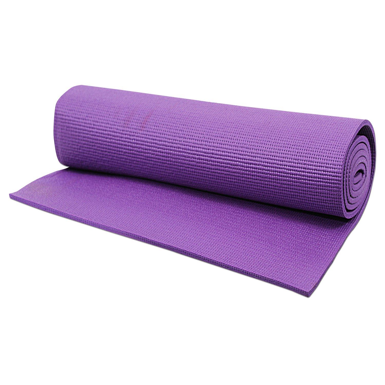 Amazon.com : HRINKAR 4Mm 24 X 68 Inch Yoga Mat 4 Purple ...