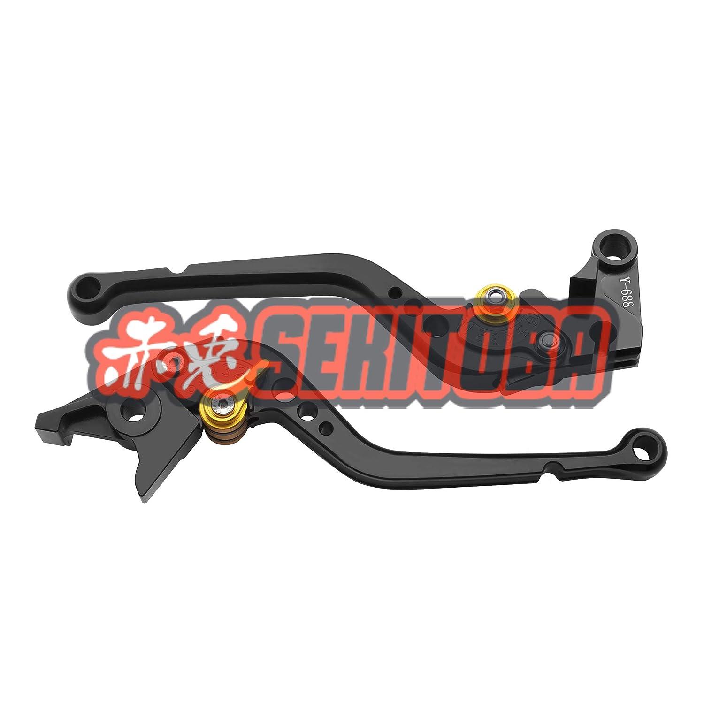 Sekitoba CNC Verstellbar Set Bremse und Kupplung Hebel Kurz Schwarz Rot f/ürstrada 821 939 Strada